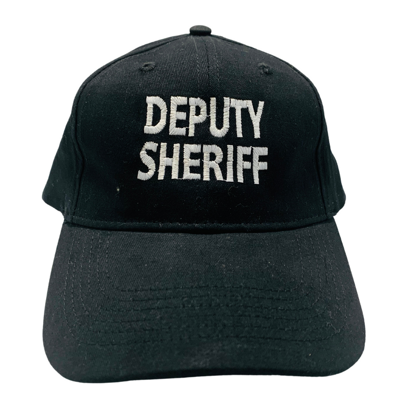 Deputy Sheriff Logo Black with Raised White Lettering Embroidered Cap