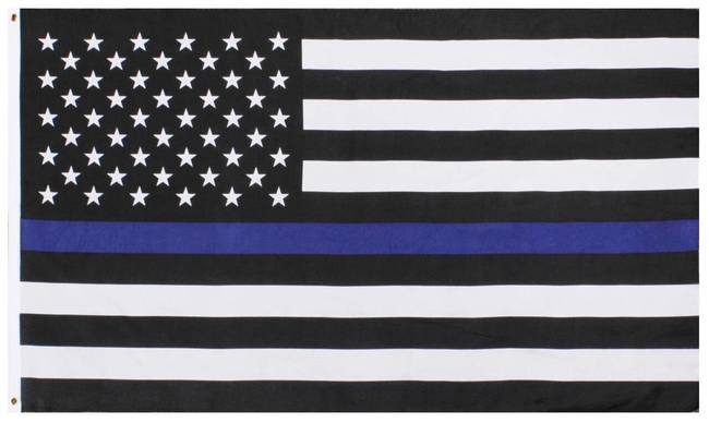 Support Police Thin Blue Line Flags