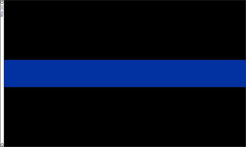 Thin Blue Line 3x5 foot Polyester Support Police Outdoor Display Flag