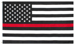 Thin Red Line Outdoor Garden Flags Support Firefighters