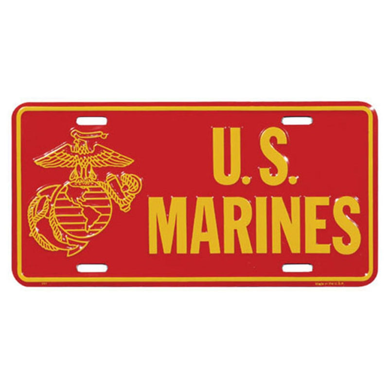 Unites States Marine Corps Officially Licensed Front License Plate