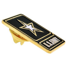 "Load image into Gallery viewer, U.S. Army 3/4"" black and Gold With White Star Lapel Pin - Flags Forever"