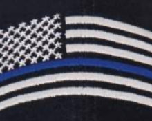 Load image into Gallery viewer, Thin Blue Line Flag Low Profile Cap Black with Grey and Blue Line Embroidered Flag