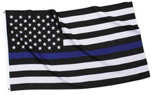 Load image into Gallery viewer, Nylon Blue Line Garden Flag Law Enforcement