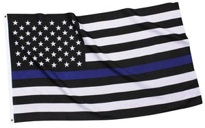 Nylon Blue Line Garden Flag Law Enforcement