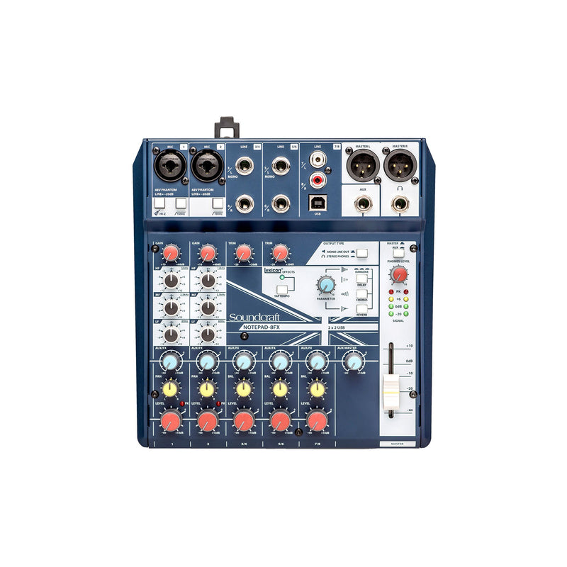 Soundcraft Notepad-8FX - Small-format Analog Mixing Console With USB I/O And Lexicon Effects