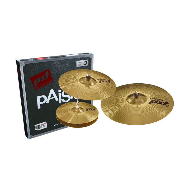 "PAISTE PST 3 Universal Cymbals Set 14"" Hi-Hat 16"" Crash 20"" Ride"