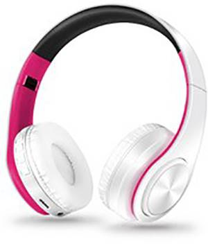 All Star Cuffie Bluetooth ASH-660KX Bianco-Rosa