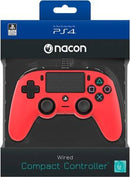 PS4 Nacon Wired Compact Controller Color Edition - Red