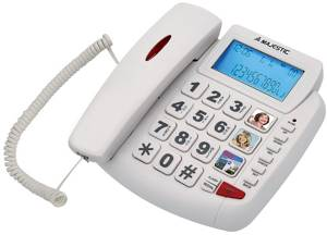 Telefono MaJestic PHF-Billy 200 Bianco
