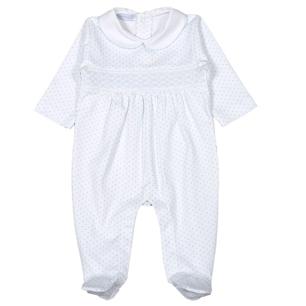 Aiden Smocked Pima Footie