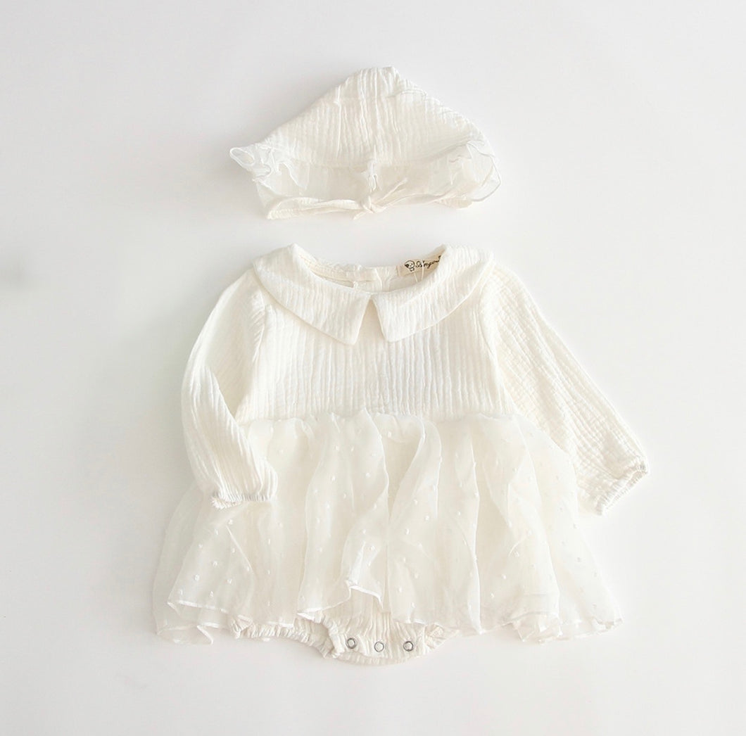 Simple and Sweet Dress and Bonnet