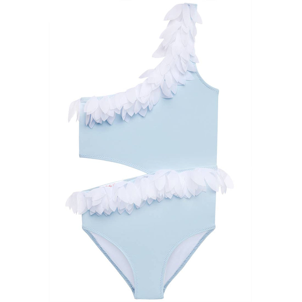 Pretty in Powder Blue Petal Bathing Suit