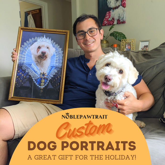 5 Custom Dog Portraits - A Great Gift for the Holidays