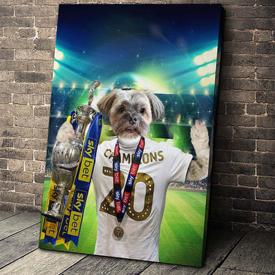 The Soccer Champion Custom Canvas Pet Portrait - Noble Pawtrait