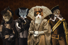 Load image into Gallery viewer, The Queen and Her Guards Custom Pet Portrait Digital Download - Noble Pawtrait
