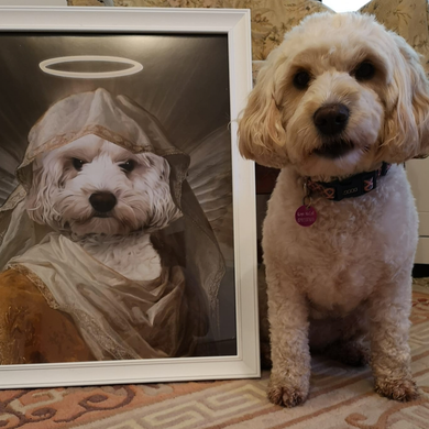 The Angel Custom Pet Portrait - Noble Pawtrait
