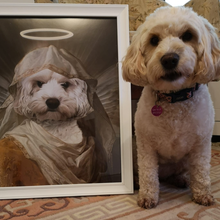 Load image into Gallery viewer, The Angel Custom Pet Portrait Digital Download - Noble Pawtrait