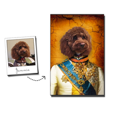 Load image into Gallery viewer, The Prince Custom Pet Portrait Poster - Noble Pawtrait