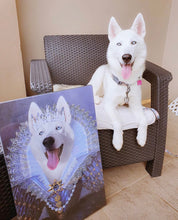 Load image into Gallery viewer, Her Majesty Custom Pet Portrait - Noble Pawtrait