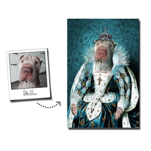 Load image into Gallery viewer, The Queen Custom Pet Portrait Canvas - Noble Pawtrait