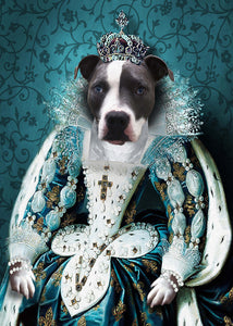 The Queen Custom Pet Portrait Canvas - Noble Pawtrait
