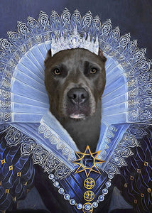 Her Majesty Custom Pet Portrait Digital Download - Noble Pawtrait