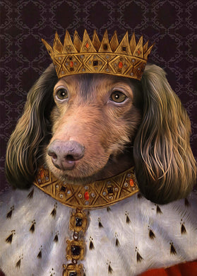 King Henry VII Custom Pet Portrait Poster - Noble Pawtrait