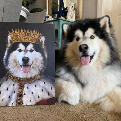 King Henry VII Custom Pet Portrait - Noble Pawtrait