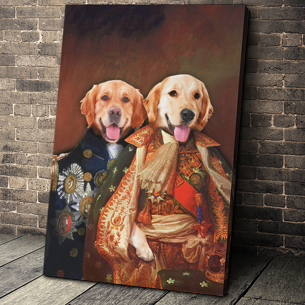 The Duo Custom Pet Portrait Canvas - Noble Pawtrait
