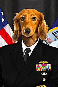 The US Navy Custom Pet Portrait - Noble Pawtrait
