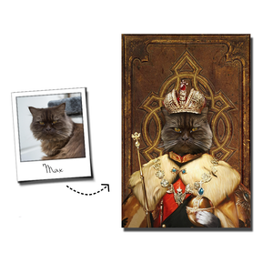 The King Custom Pet Portrait