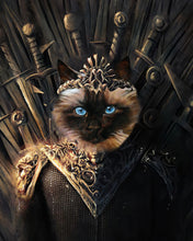 Load image into Gallery viewer, The Throne Custom Pet Portrait Digital Download - Noble Pawtrait
