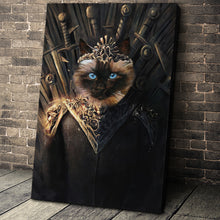 Load image into Gallery viewer, The Throne Custom Pet Portrait Canvas - Noble Pawtrait