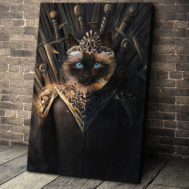 The Throne Custom Pet Portrait Canvas - Noble Pawtrait