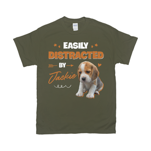 Easily Distracted By My Pet Custom Pet Unisex T-shirt - Noble Pawtrait