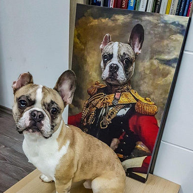 The Colonel Custom Pet Portrait - Noble Pawtrait