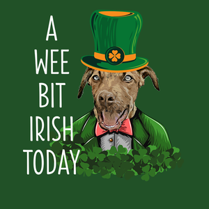 A Wee Bit Irish Today Custom Pet Unisex T-shirt - Noble Pawtrait