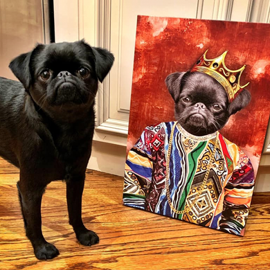 The Notorious Mr. Big Custom Pet Portrait - Noble Pawtrait