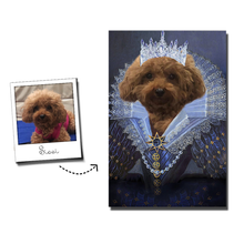 Load image into Gallery viewer, Her Majesty Custom Pet Portrait Digital Download - Noble Pawtrait