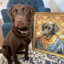 Load image into Gallery viewer, The Marchioness Custom Pet Portrait Canvas - Noble Pawtrait