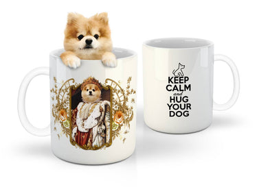 The King Royal Custom Mug - Noble Pawtrait