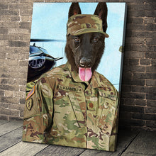Load image into Gallery viewer, The Air Force Custom Pet Portrait Canvas - Noble Pawtrait