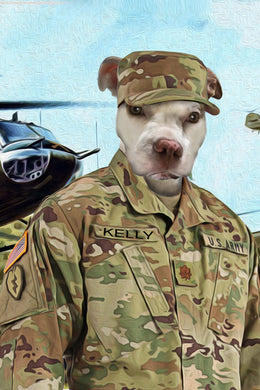 The Air Force Custom Pet Portrait Digital Download - Noble Pawtrait