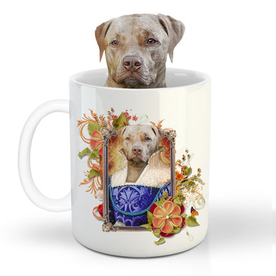 The Ambassadress Custom Pet Mug - Noble Pawtrait