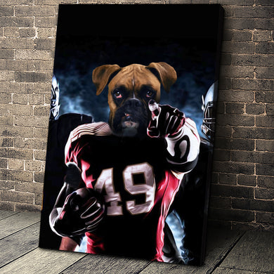 The American Footballer Custom Pet Portrait - Noble Pawtrait