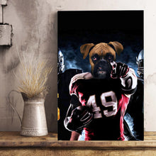 Load image into Gallery viewer, The American Footballer Custom Digital Download Pet Portrait - Noble Pawtrait