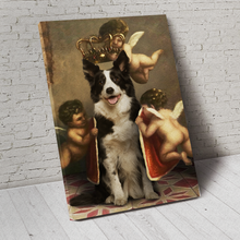 Load image into Gallery viewer, The Royal Angel Pet Portrait Canvas - Noble Pawtrait