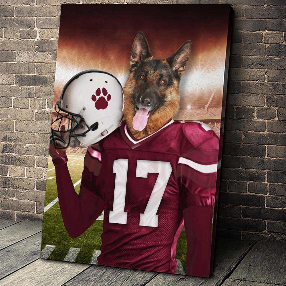 The Arizona Fan Custom Pet Portrait - Noble Pawtrait