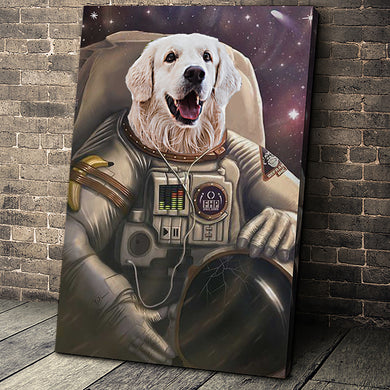 The Astronaut Custom Pet Portrait - Noble Pawtrait